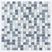 marble mosaic glass and stone mix 5 8 x 5 8 glass mosaic tile