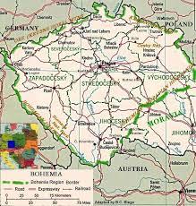 bohemia map map