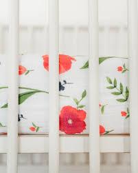 Muslin Crib Bedding Unicorn Cotton Muslin Crib Sheet Summer Poppy