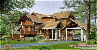 kerala home plans with central courtyard and railings of shown in