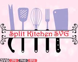 kitchen excellent kitchen utensils split silhouette customizable