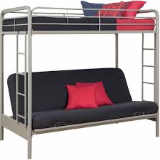 DHP Twin Over Futon Metal Bunk Bed Multiple Colors Walmartcom - Futon bunk bed with mattresses