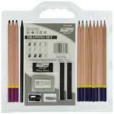 pro art 18 piece pencil set for sketching and drawing fen u0027teg