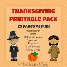 free 25 page thanksgiving printable pack