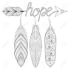 bohemian arrow amulet with letters with feather