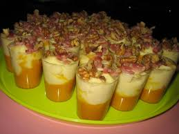 cuisine automne verrines d automne à la crème de panais carotte lardons et noix