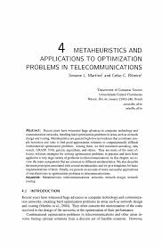 metaheuristics and applications to optimization problems in