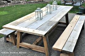 wooden table and bench wood patio bench large size of and table cedar outdoor dining