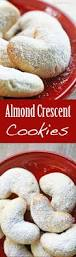 almond crescent cookies little almond cookies shaped into