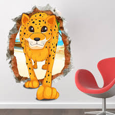 3d baby kid room cartoon lovely cute leopard wall decals removable 3d baby kid room cartoon lovely cute leopard wall decals removable paper stickers art diy gift