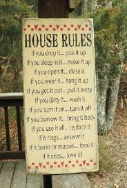 House Rules Funny House Rules Handpainted Wood Sign Primitive - Funny home decor