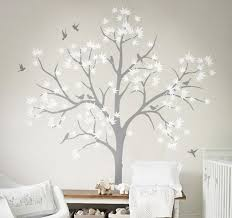 Tree Wall Decor For Nursery Large Nursery Wall Decoration White Tree Wall Decals Diy Home Wall