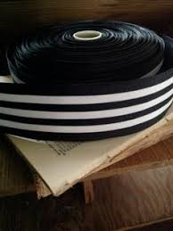 black and white wired ribbon black and white striped grosgrain ribbon by shymyrtle on etsy