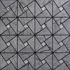 peel and stick tile pinwheel patterns gray aluminum metal wall