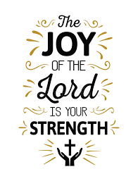 the of the lord is your strength stock vector illustration
