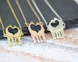 rose gold animal necklace images Wildlife jewelry etsy jpg