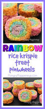 rice krispie treats for thanksgiving rainbow rice krispie treat pinwheels easy u0026 fun recipe