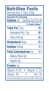 light sour cream nutrition light sour cream nutrition facts www lightneasy net