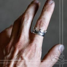 mens crown rings images Mens textured crown ring earth art gem jewelry jpg