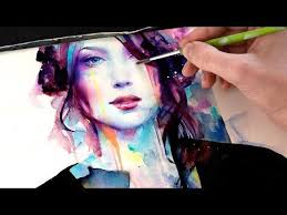 download tutorial kiss the rain download video watercolor portrait with her strength