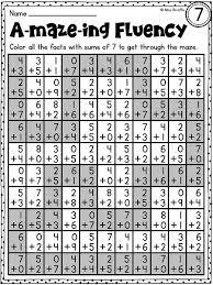 first grade math unit 10 fact fluency fluency activities math