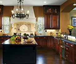Dark Cherry Cabinets In Traditional Kitchen Decora - Kitchen with cherry cabinets