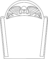 blank tombstone coloring page