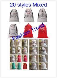 santa sacks 100pcs lot free shipping 20 styles santa sacks santa sack canvas