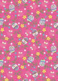 easter wrapping paper easter eggs and flowers scrapbook paper