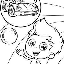 molly character bubble guppies coloring molly character