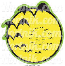clipart of bats and full moon by andy nortnik 718