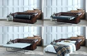 Leather Chesterfield Sofa Bed Chesterfield Sofa Bed Three Fold Bed Mechanism Grey Leather