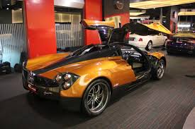 custom pagani sale beautiful orange pagani huayra