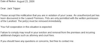 lease violation notice u2013 tenant violation notices ez landlord forms