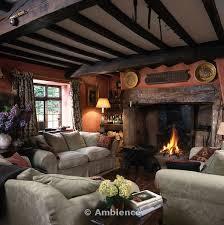cottage livingrooms ambience images patterned beige sofas in cottage living room