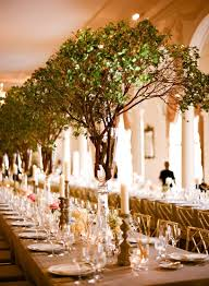 not flowers but ginormous green branches beautiful wedding