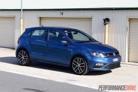 blue volkswagen 2015 volkswagen polo gti review track test video