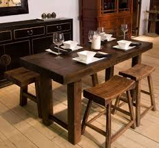 unique kitchen table ideas rustic dining table with narrow dining table have some plates and