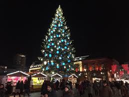blue christmas tree strasbourg