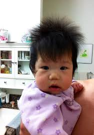three year old haircuts parents share pics of babies born with full heads of hair 15