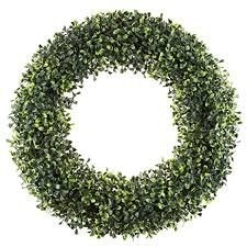 amazon com boxwood wreath artificial wreath for the front door