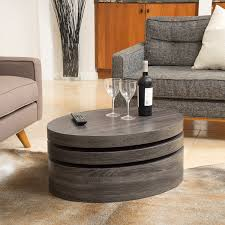modern cocktail tables amazon com lenox oval mod rotating wood coffee table kitchen