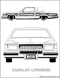 lowrider coloring page