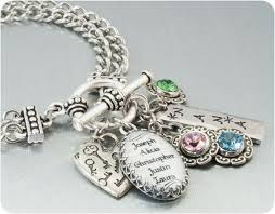 mothers bracelets with birthstones silver charm bracelet inspirational jewelry stainless steel