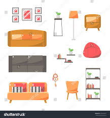 furniture home decor living room interior stock vector 551634553