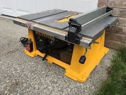 dewalt dw744 10 inch job site table saw good working condition
