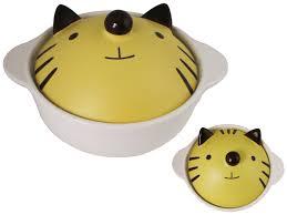 yellow cat donabe japanese pot