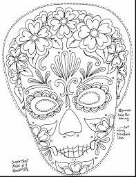 outstanding day of the dead coloring pages with day of the