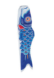 Japanese Fish Flag Amazon Com In The Breeze Koi Fish Windsock 36 Inch Blue Wind