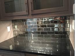 Black Subway Tile Kitchen Backsplash Mirrored Subway Tiles Kitchen Backsplash Colors